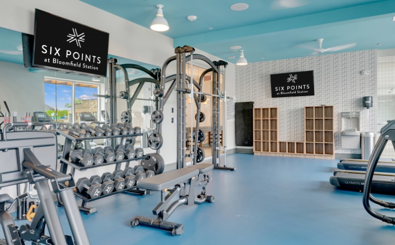 Fully outfitted fitness center
